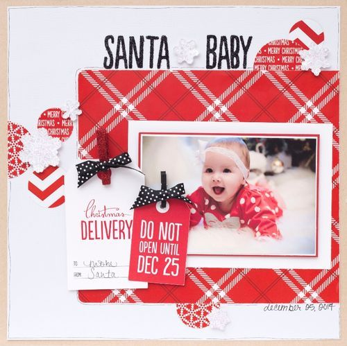 Check out this lovely layout created our new Be Merry Collection. It's never too early or late to think about Christmas! #bemerry