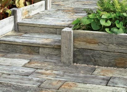 deck from reclaimed wood gardening and yard ideas