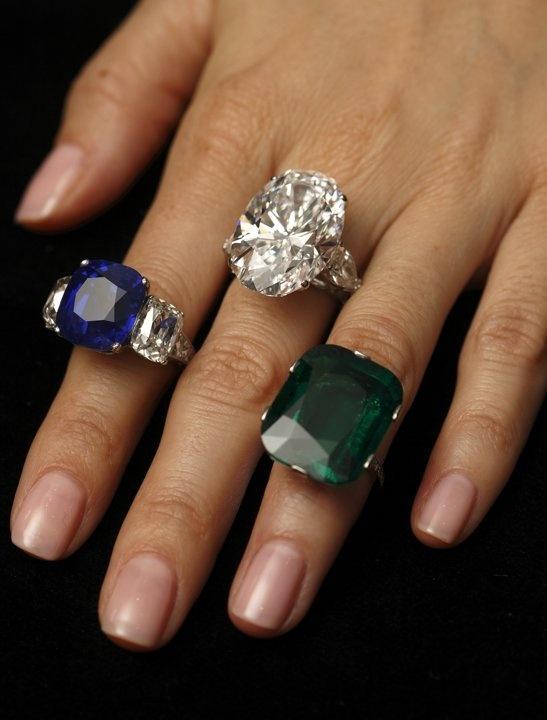 Jewelery Sapphire Ring C L E
