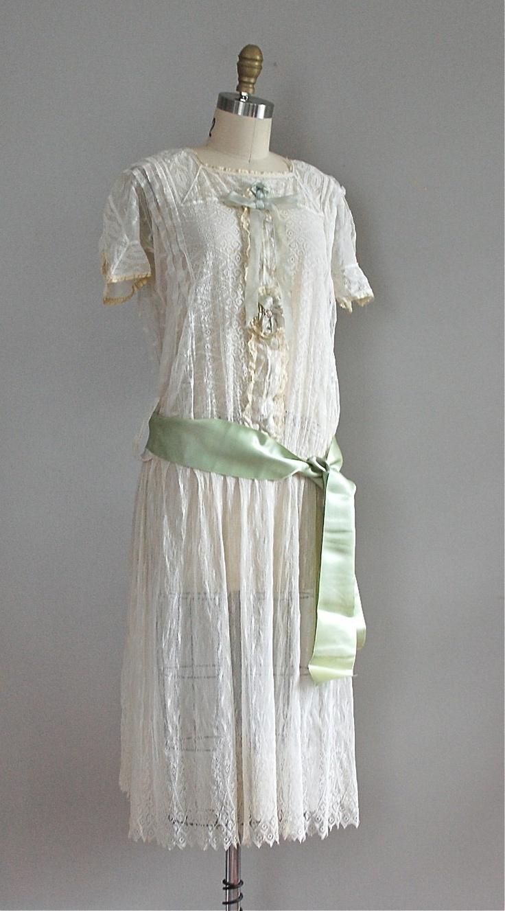 1920s drop waist lace dress vintage fashions pinterest