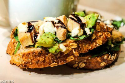 Open Faced Chicken, Avocado, Spinach and Goat Cheese Toast by Say What ...