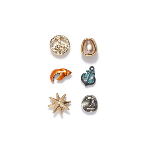 Rachel Roy: Maritime Earring Set    Love this mismatched summertime set!