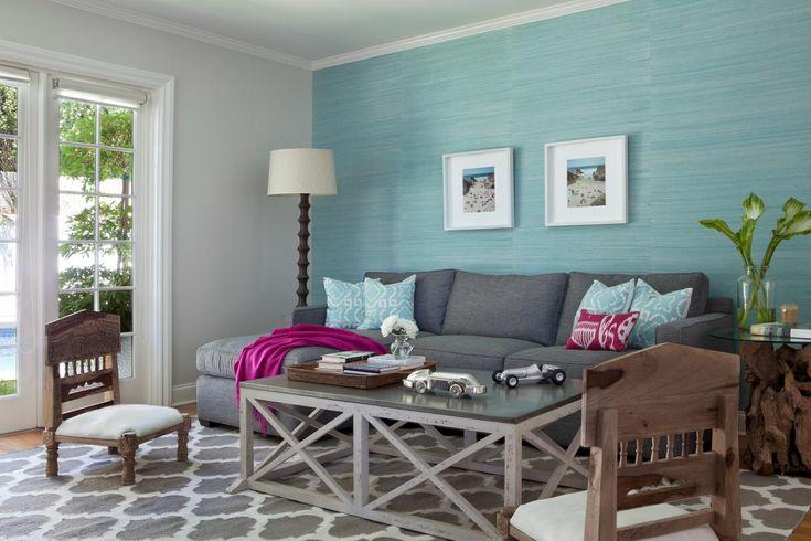 Gray blue living room