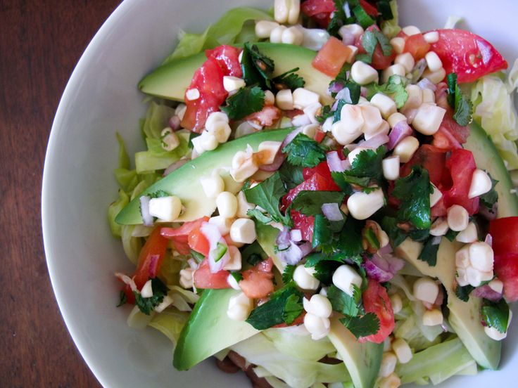 pico de gallo and pinto beans bowl via ashley neese