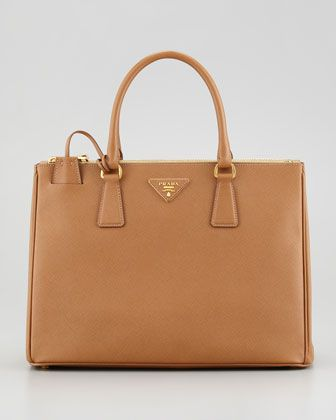 Saffiano Small Double-Zip Executive Tote