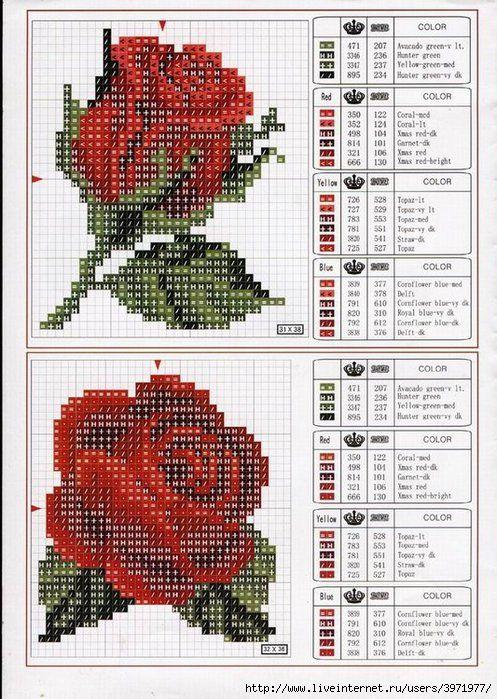 Вышивки из бисера схемы цветы 47