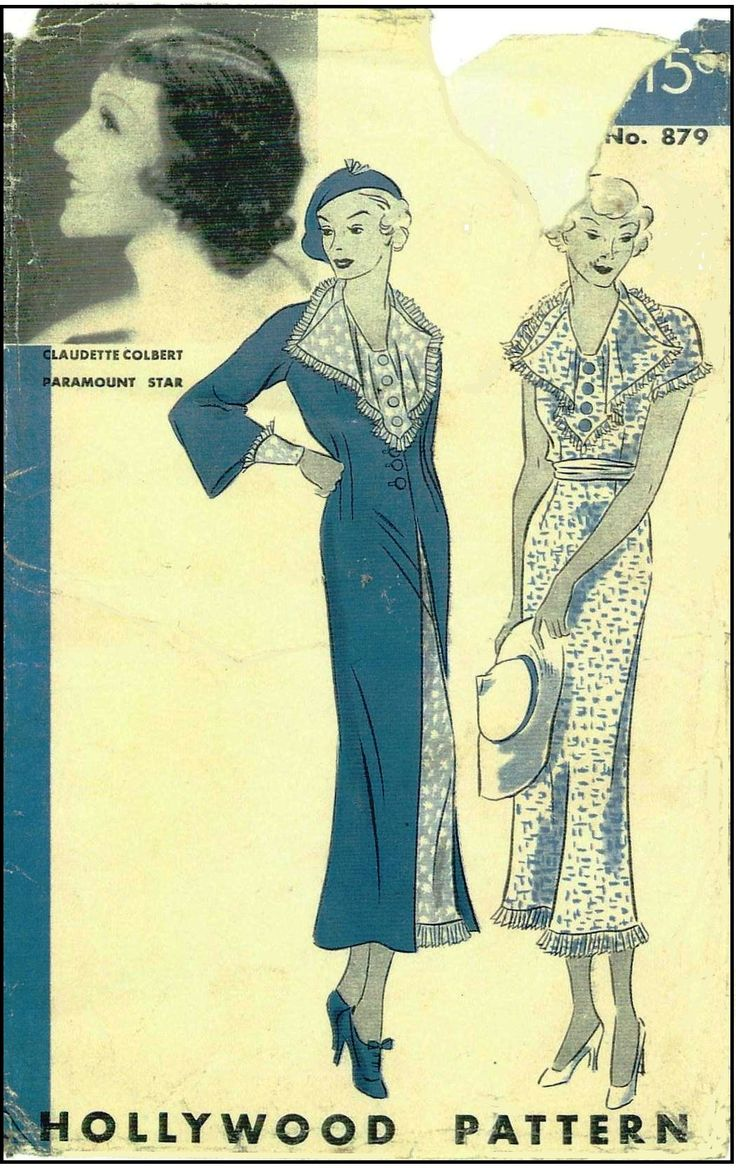 Altering fashions time is a tailor march 2014 1930s ladies dress and jacket sewing pattern claudette colbert for hollywood pattern 879 jeuxipadfo Choice Image