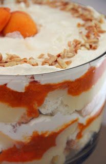 Apricot Angel Food Trifle | Foodie Stuffs | Pinterest