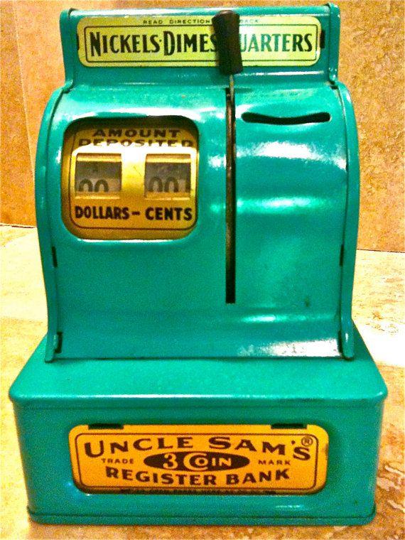 Uncle Sam's vintage toy cash register