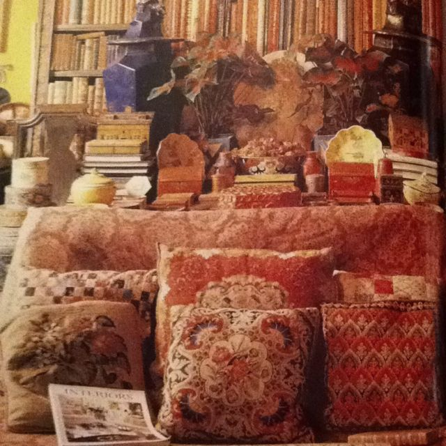 In the home of the late stephen long world of interiors c 1980s