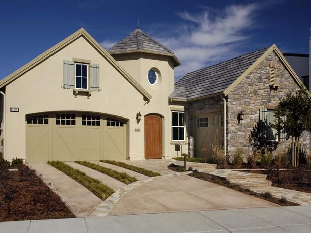 French country exterior with turret garage pinterest for French country garage doors