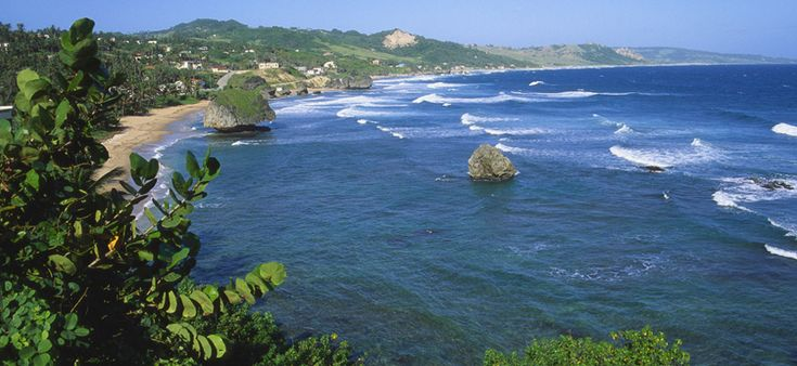 Bridgetown, Barbados in the crystal clear Caribbean.