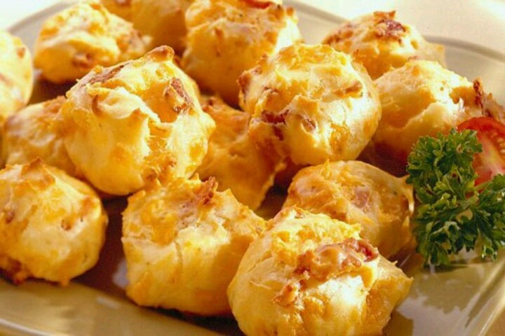 Bacon cheddar cheese puffs | Recipes | Pinterest