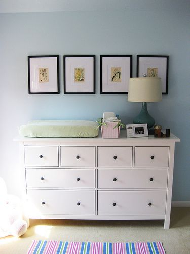hemnes dresser as changing table baby on the way pinterest. Black Bedroom Furniture Sets. Home Design Ideas