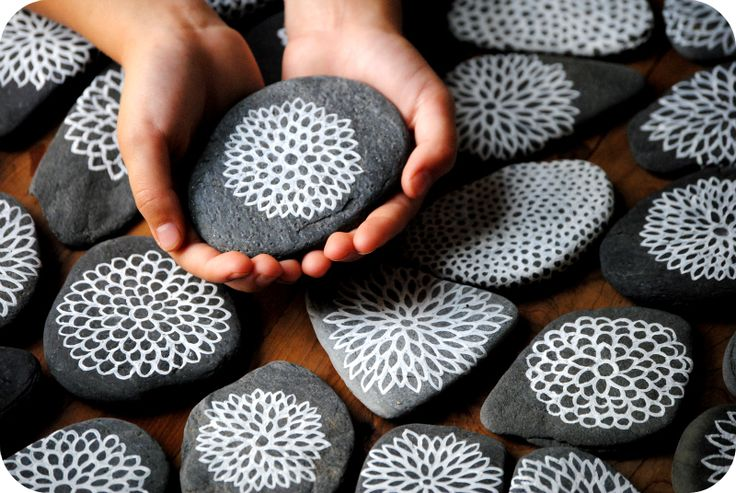 beautifully painted stones