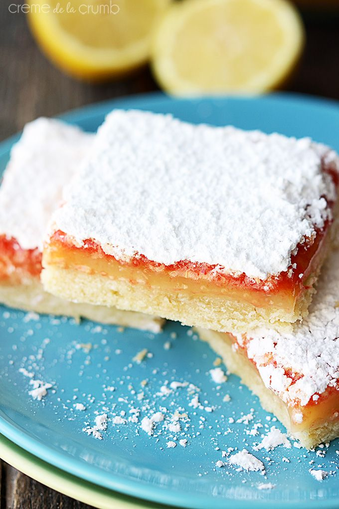 Lemon Raspberry Bars Recipe — Dishmaps