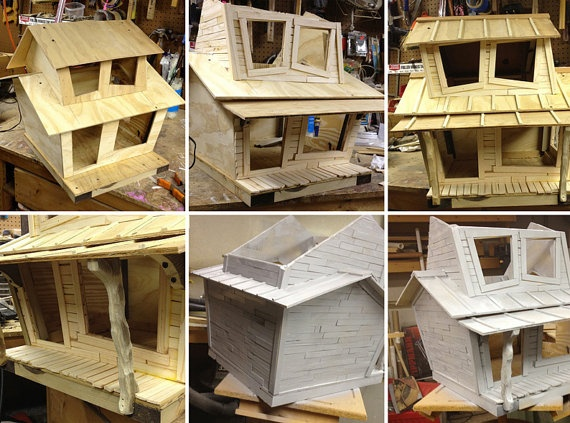 heated outdoor cat house by vogue99 on Etsy, $300.00