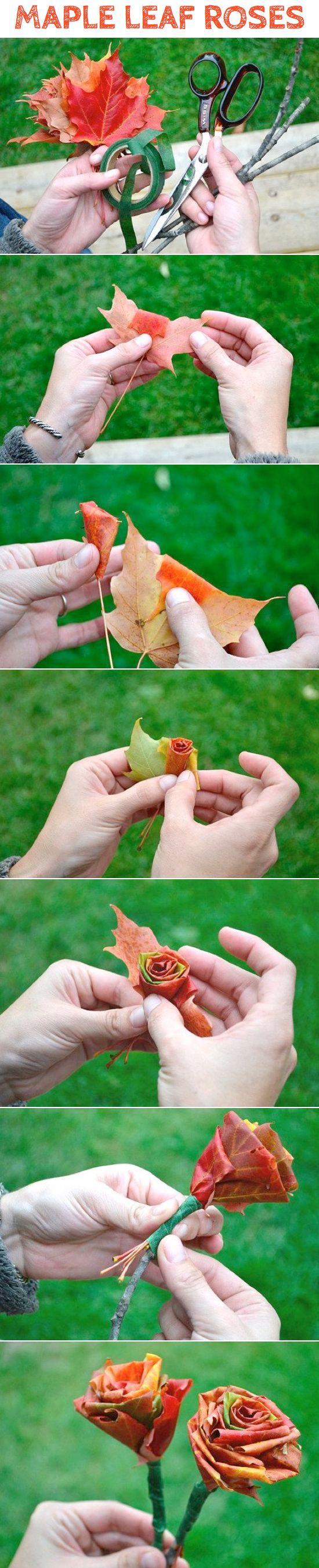 Поделка из листьев розы инструкции