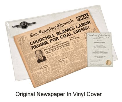 Original Newspaper from any date - a fabulous milestone birthday gift!