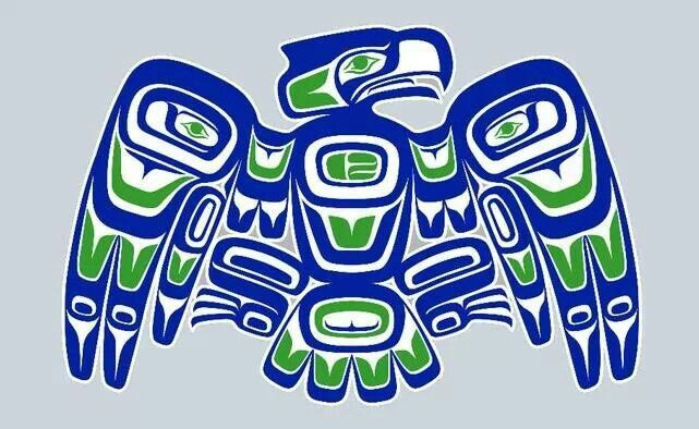 Pin by cheryl cervantes on love the seahawks pinterest for Native american tattoo artist seattle