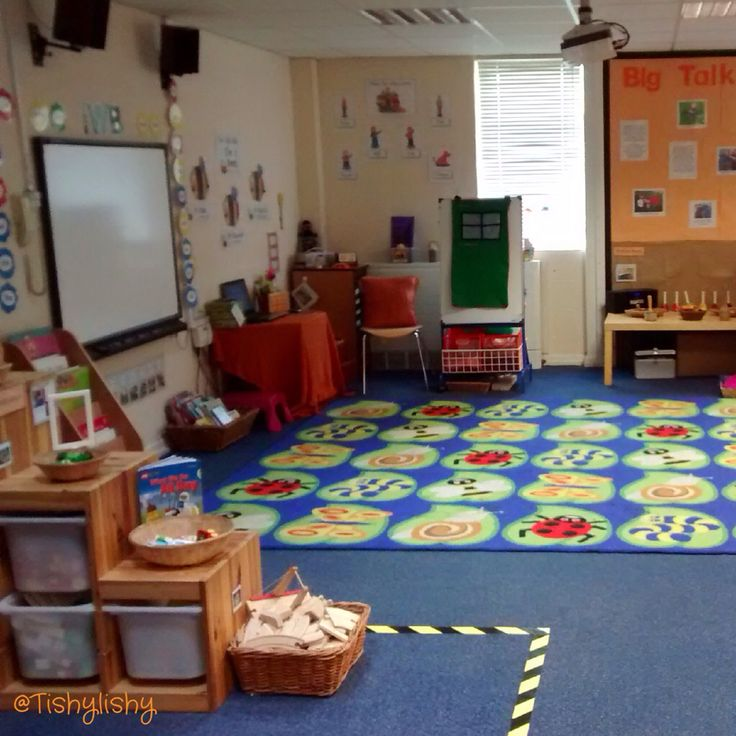 Reception Classroom Design ~ View of the carpet area aug early years classroom