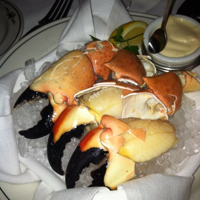 Fresh Florida Stone Crab with a tasty mustard sauce at Trulucks on 4th ...