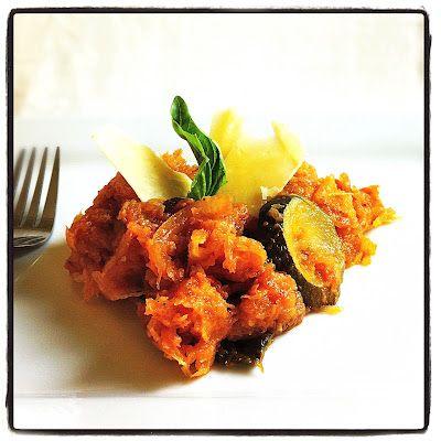 Spaghetti Squash & Fresh Tomato Sauce w/Kale & Veggies | Honey, Ghee ...