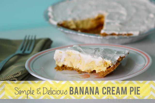 ... banana cream pie recipe using minimal ingredients including pudding