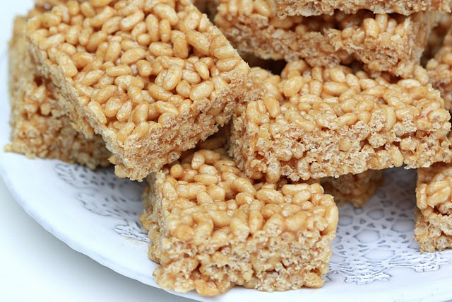 time to be a kid again! peanut butter rice krispy treats