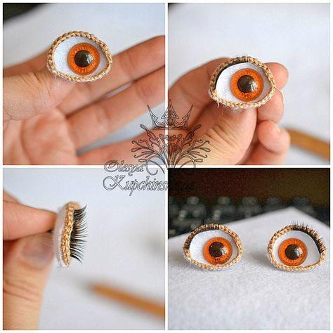 Как делать глазки для куклы своими руками
