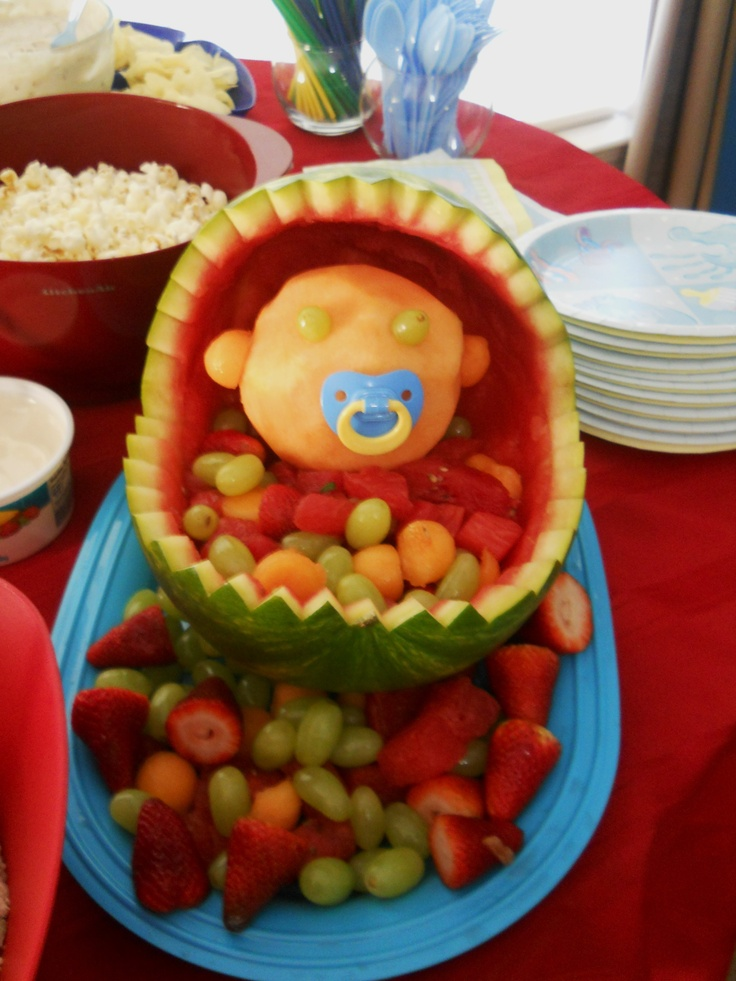baby shower watermelon fruit bowl holidays pinterest