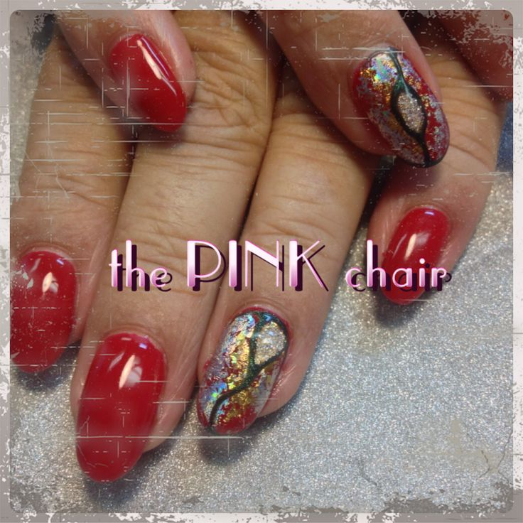 Red gel nail manicure | Nails by the PINK chair | Pinterest