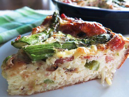 Recipe: Gluten-Free Asparagus Quiche | Gluten Free | Pinterest