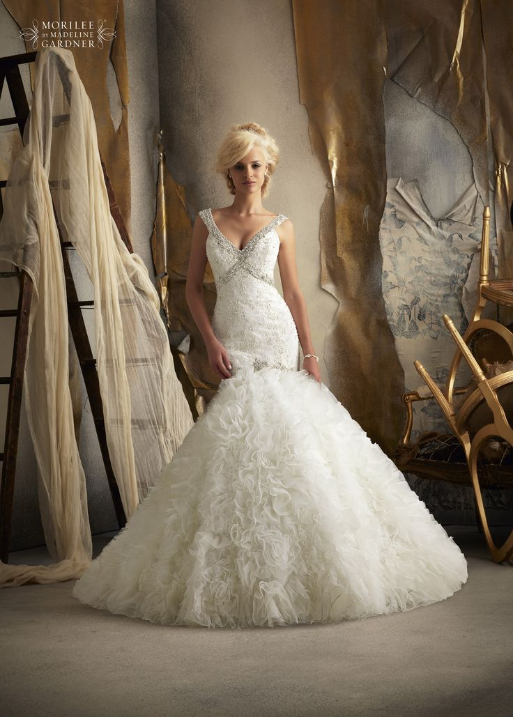 Fishtail Wedding Dress With Ruffles : Pin by amor formals on wedding