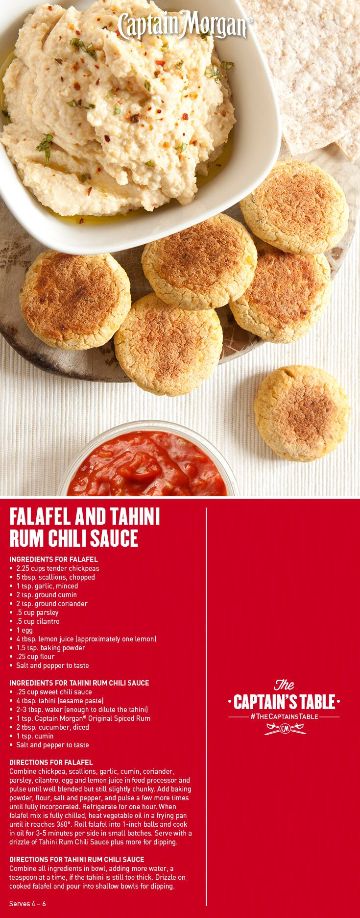 Falafel and Tahini Rum Chili Sauce: A Mediterranean delight with a fun ...