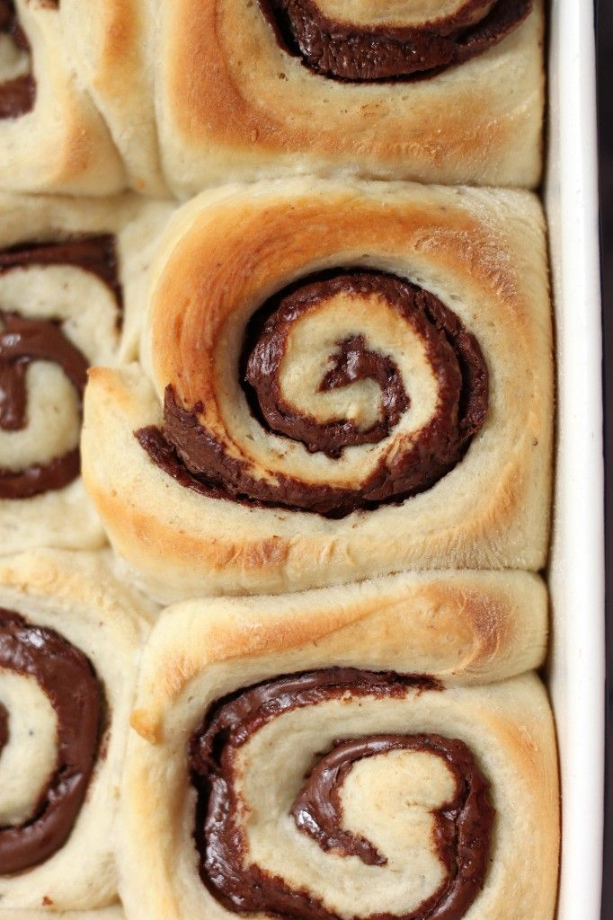 Nutella Stuffed Banana Sticky Buns | YUM! | Pinterest