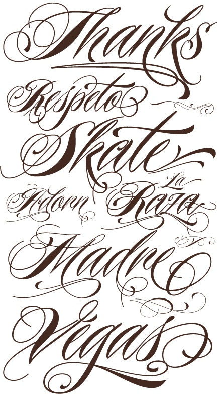 Nice Tattoo Fonts