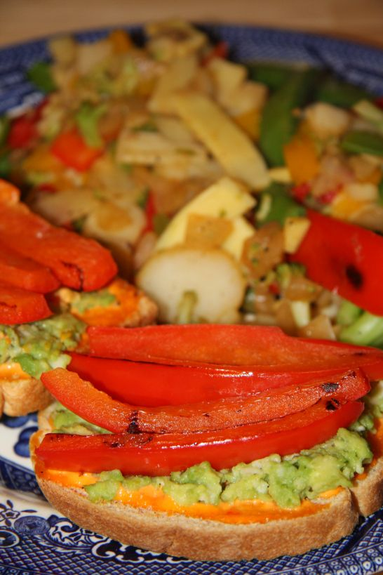 Roasted Red Pepper and Avocado Melts (Weight Watchers: 5 Points Plus ...