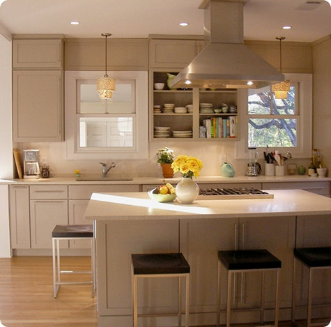 Pin by brooke gontarek on for the home pinterest for Kitchens with islands in the middle