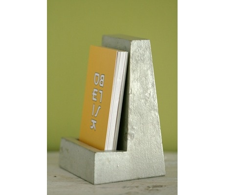 I never know what to do with my business cards... Concrete holder $25
