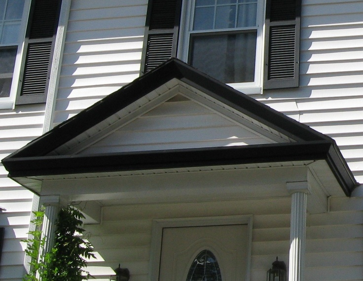 Pin By Lynn Barnes On Portico Roof Over Front Door Overhang Canopy Th