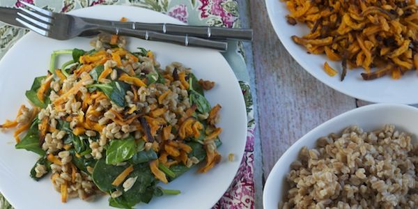 Farro with Wilted Spinach & Lemon-Parmesan Vinaigrette -- Members ...