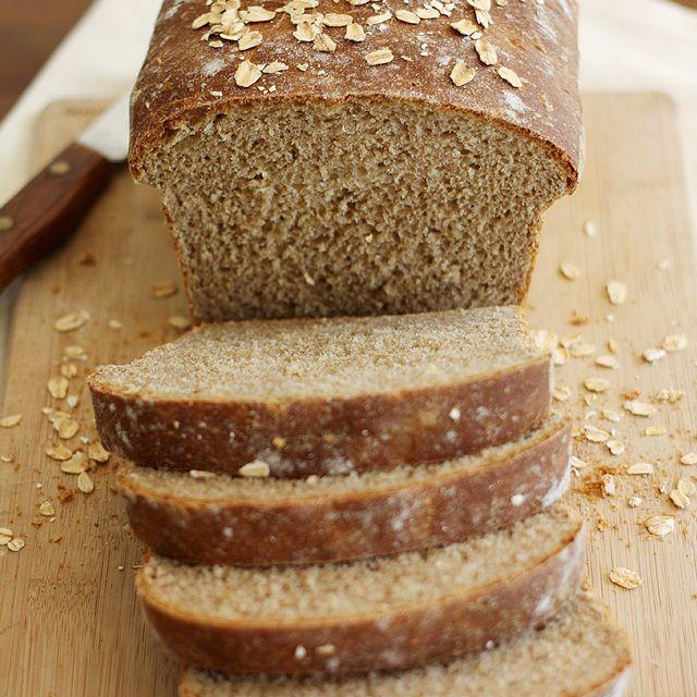 Whole Wheat Honey Oatmeal Bread | Recipe