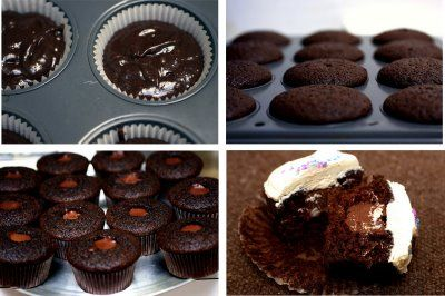 Chocolate Whiskey and Beer Cupcakes | cool snack ideas | Pinterest