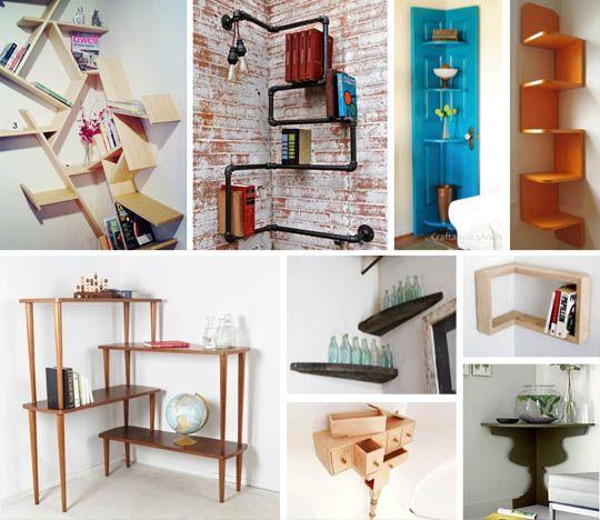 DIY Ideas: Clever Corner Shelving