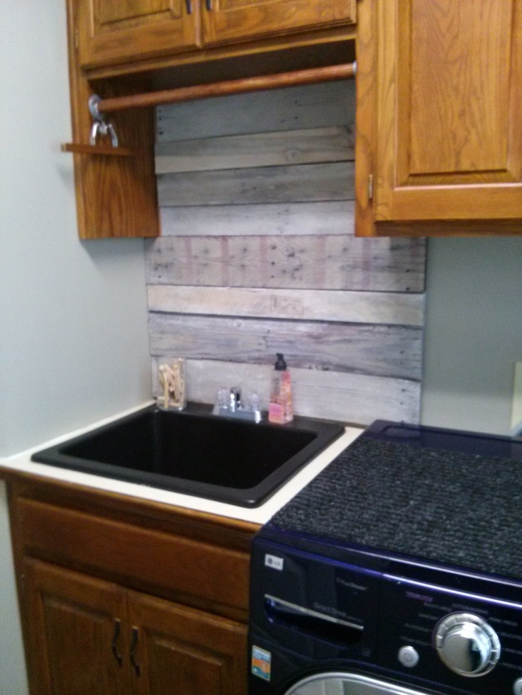 wood pallet backsplash wood pallets pinterest