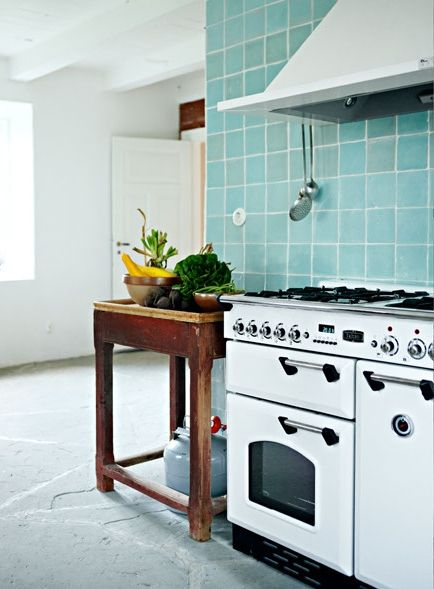 turquoise tile backsplash  Kitchen Love ?  Pinterest