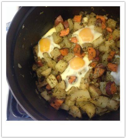 Perfect savory brunch item -- Potato Pesto Skillet - try it this ...
