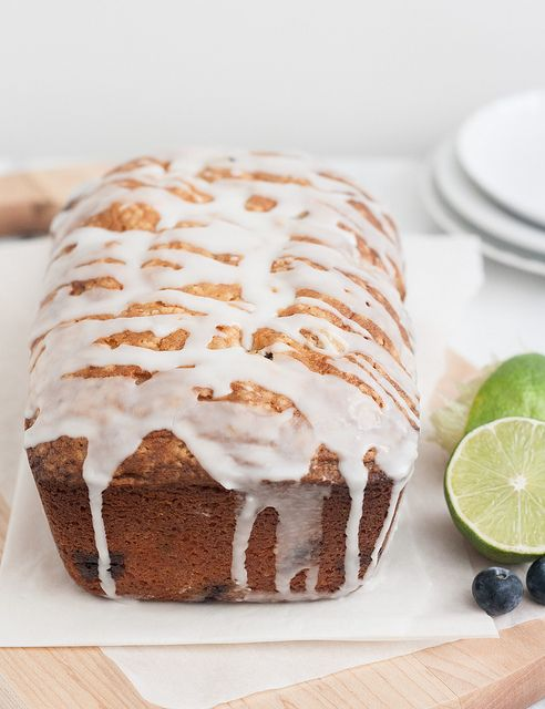 Blueberry-Lime Cream Cheese Pound Cake | Desserts | Pinterest