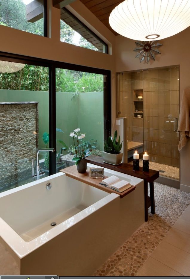 Zen Bath Spa Like Retreats And Baths Pinterest